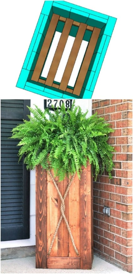 DIY Vertical Wooden Garden Planter