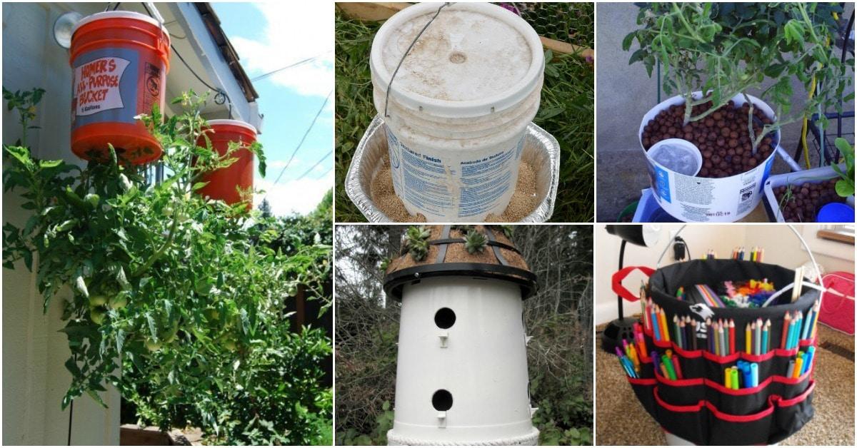20 Borderline Genius Diy Ideas For Repurposing Five Gallon Buckets Diy Crafts