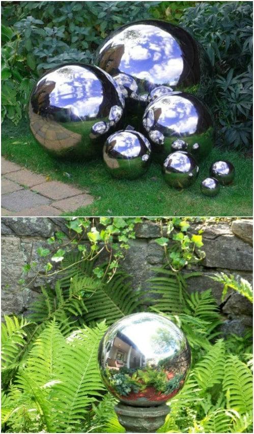 Easy DIY Mirrored Gazing Ball