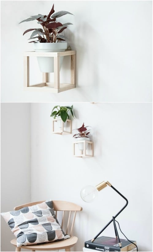 DIY Wooden Hanging Wall Planters
