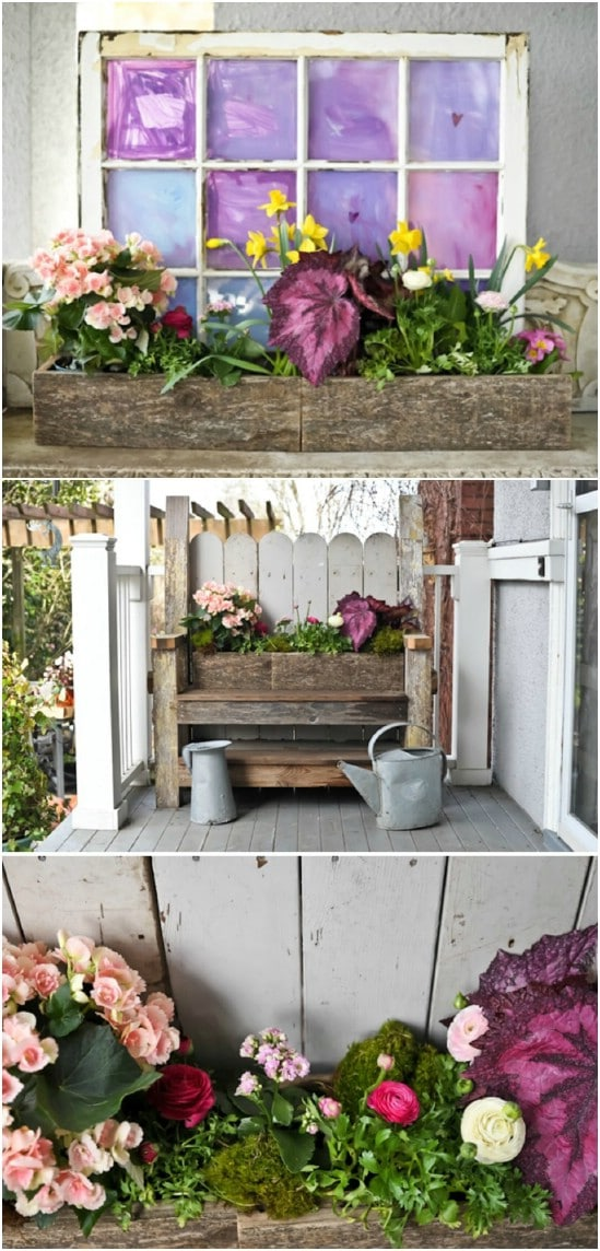 Rustic Repurposed Wood Window Box