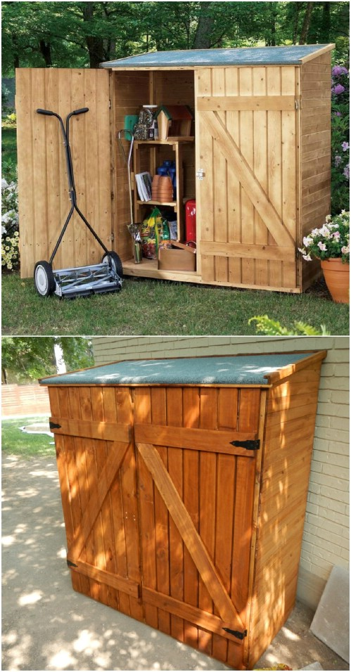 24 Practical Diy Storage Ideas To Organize Your Lawn And Garden Diy Crafts