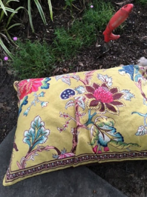 Repurposed Cloth Napkin Garden Kneeling Pad