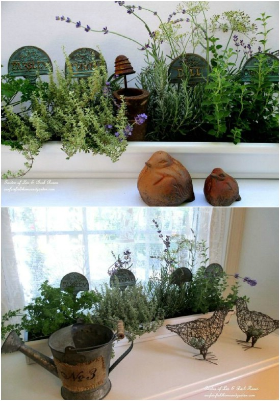 Repurposed Gutter Window Boxes