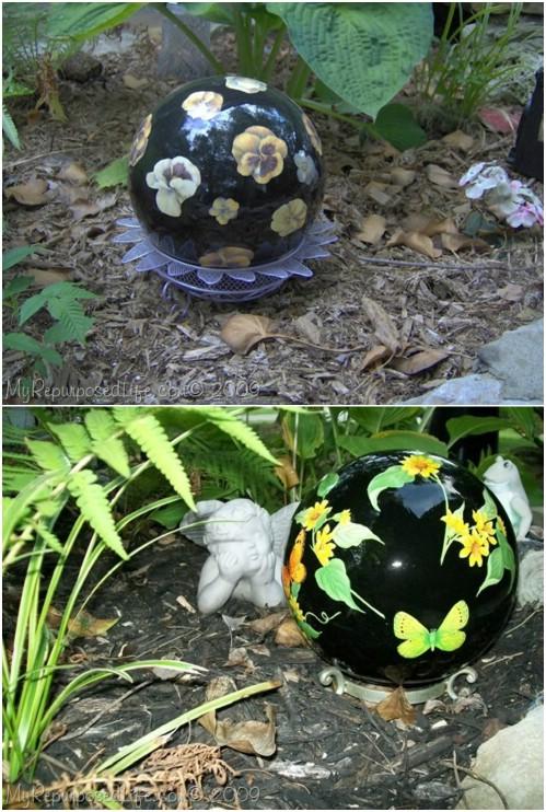 Decorative Bowling Ball Gazing Ball