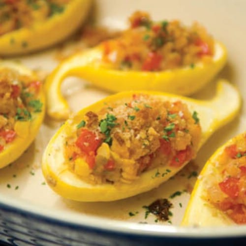 Garden Stuffed Summer Squash