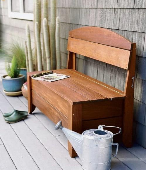 Easy DIY Garden Hose Storage Bench