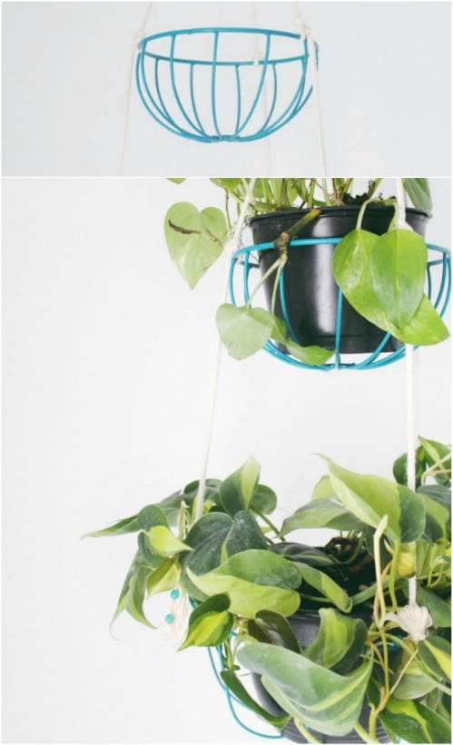 DIY Hanging Tiered Planter