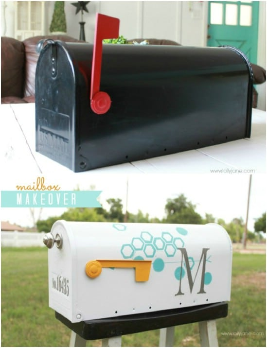 Monogrammed Paint And Vinyl Mailbox