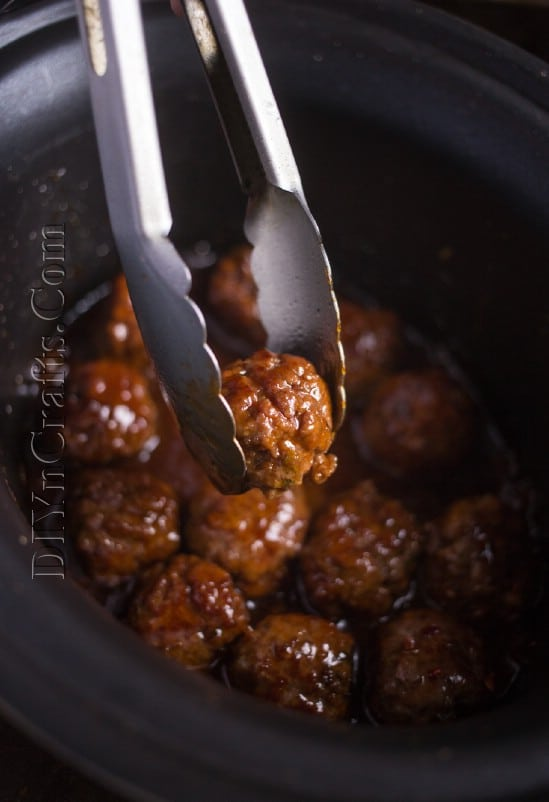 Finished meatballs: