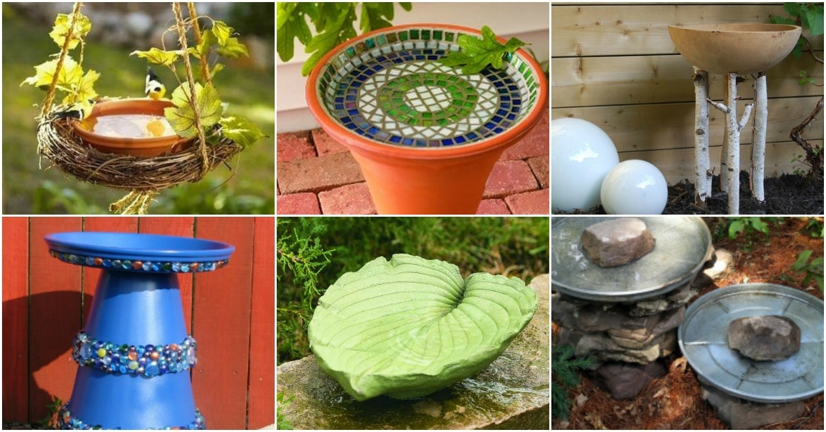 20 Adorably Easy Diy Bird Baths You Ll Want To Add To Your
