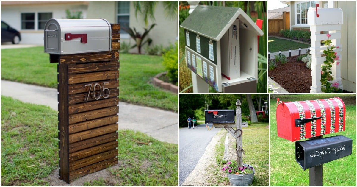 15 Amazingly Easy Diy Mailboxes That Will Improve Your