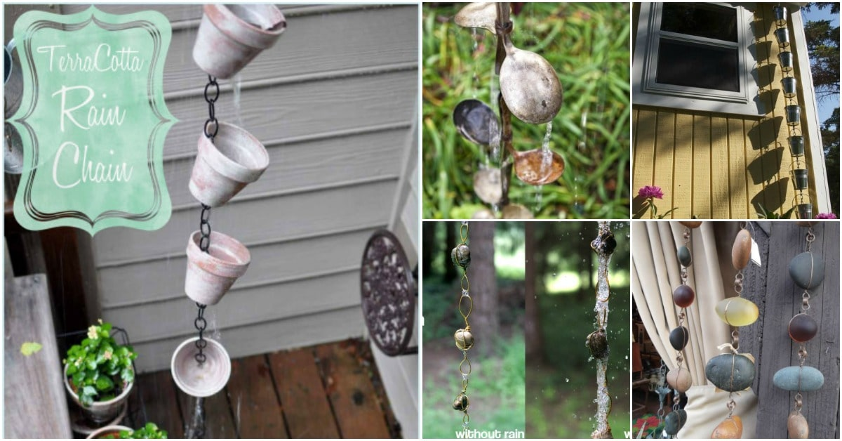 15 Simple Diy Rain Chains That Add Dramatic Flair To Your