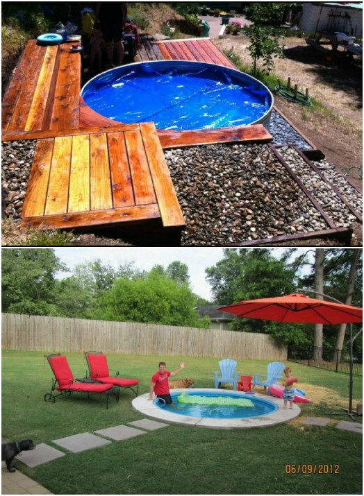 Small Backyard DIY Swimming Pool