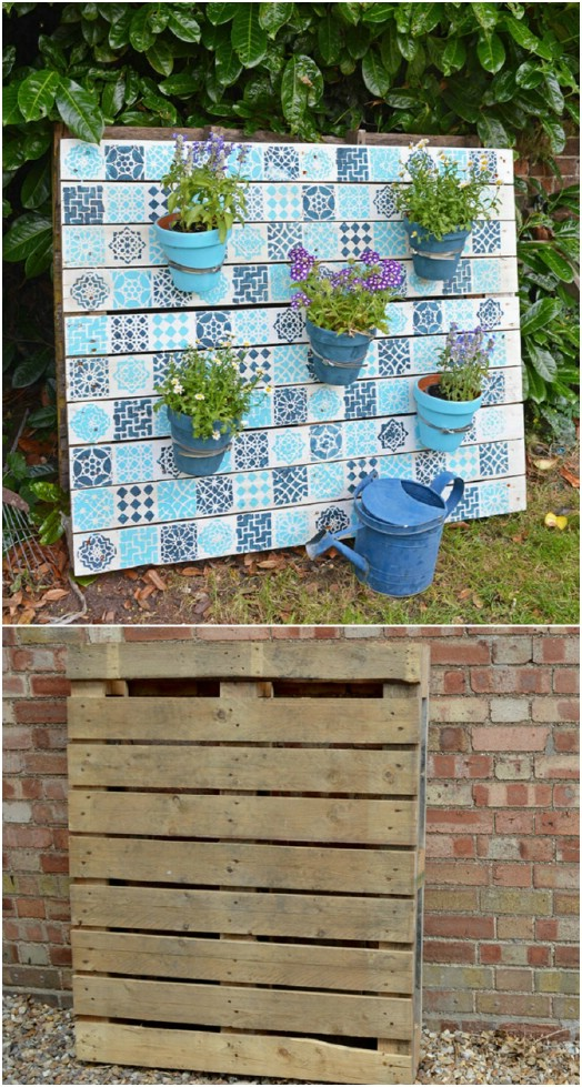 Gorgeous DIY Painted Pallet Planter