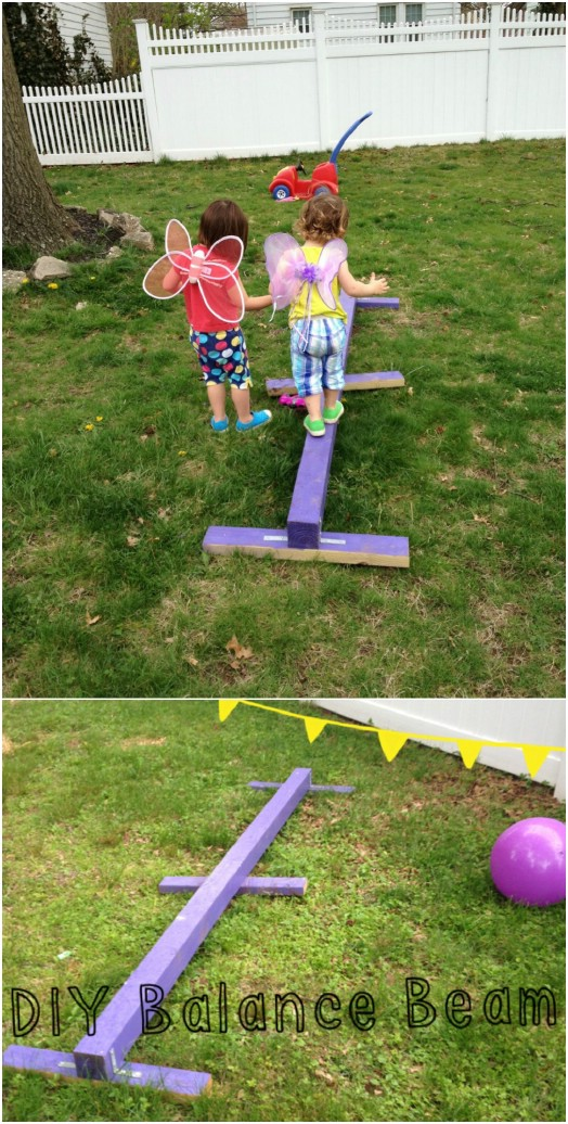 DIY Kid Sized Balance Beam