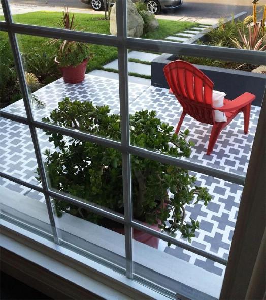 DIY Updated Patio Floor