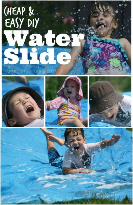 DIY Backyard Water Slide