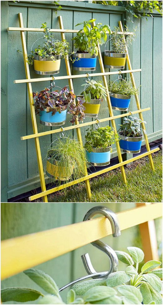 Repurposed Trellis Vertical Garden