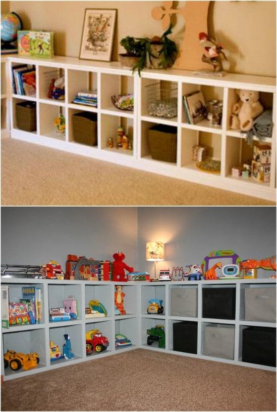 DIY Rolling Room Divider Shelf