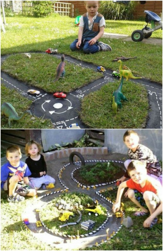 DIY Backyard Racetrack