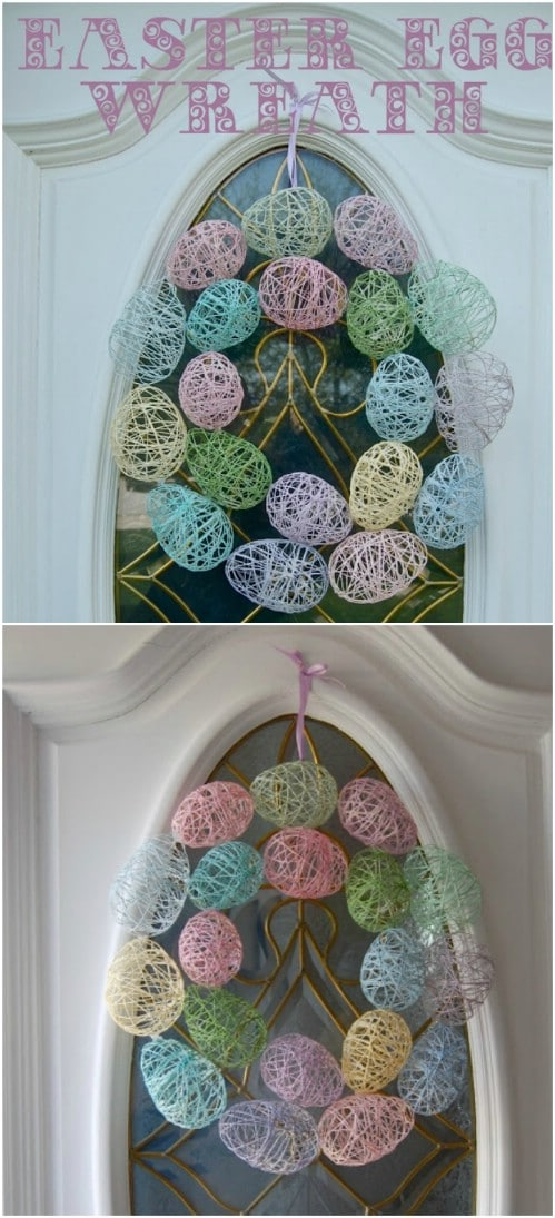Embroidery Floss Easter Egg Wreath