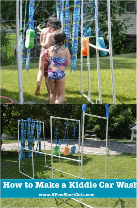 DIY Backyard Kiddie Car Wash