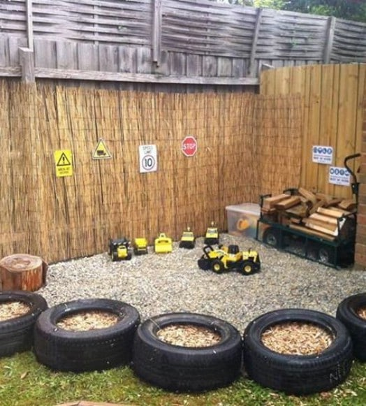 Repurposed Tire Play Area