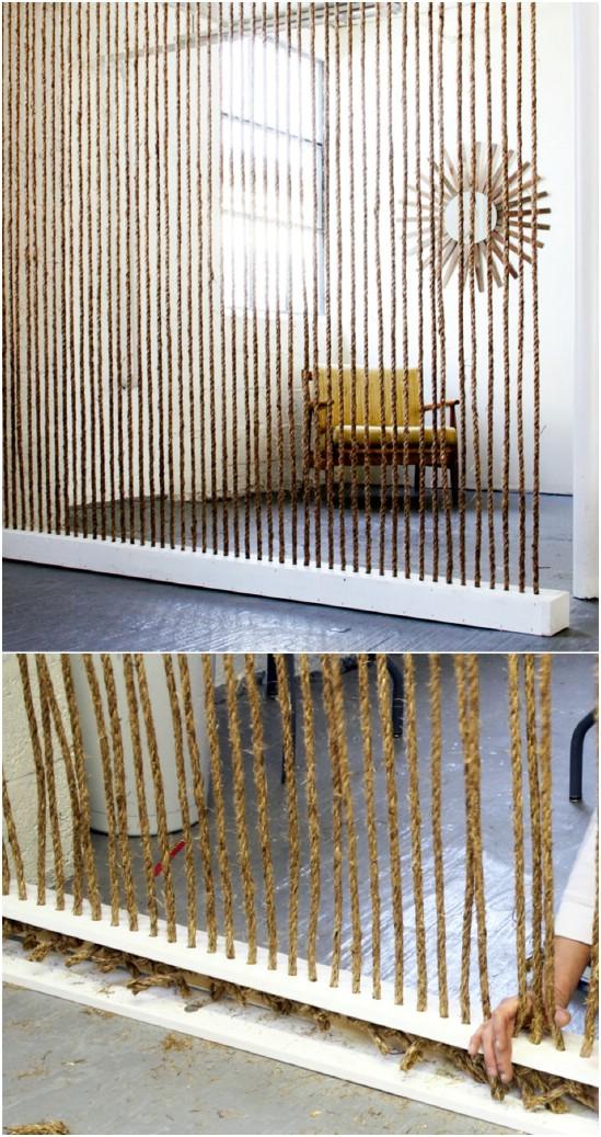 DIY Rope Wall Divider