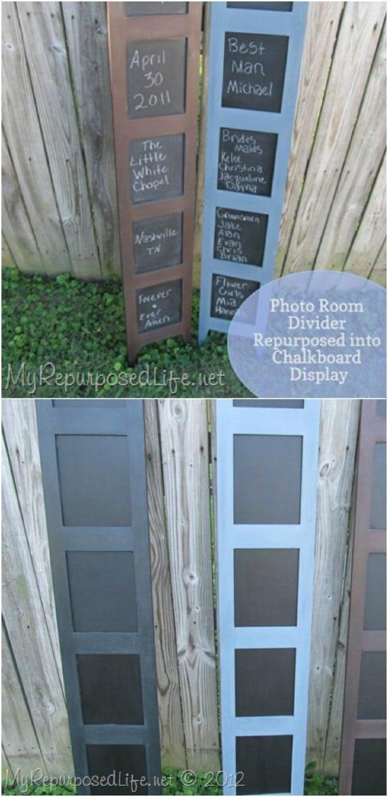 DIY Chalkboard Room Divider