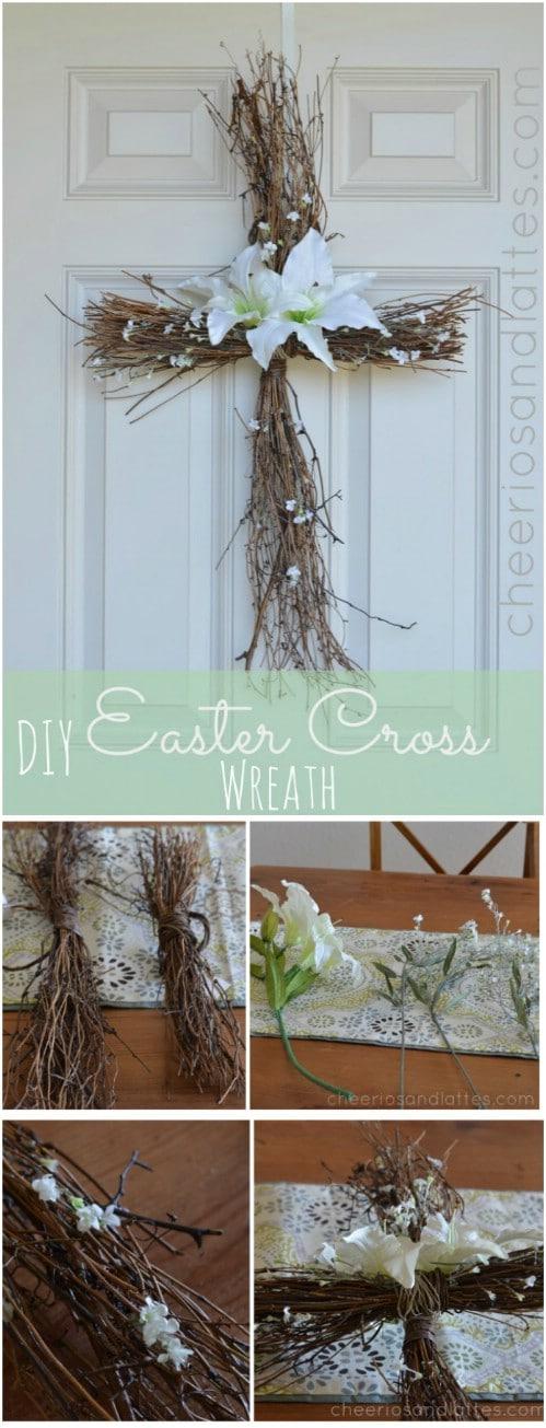 DIY Easter Cross Wreath