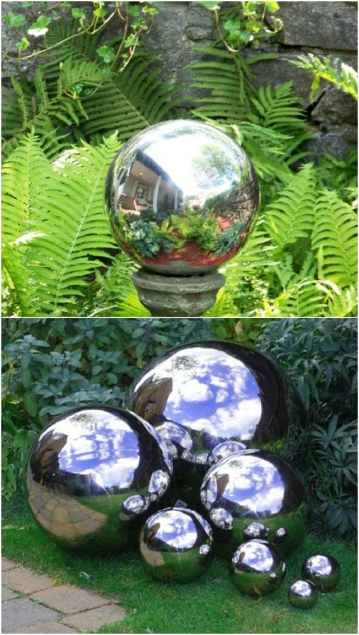 Simple DIY Mirrored Gazing Balls