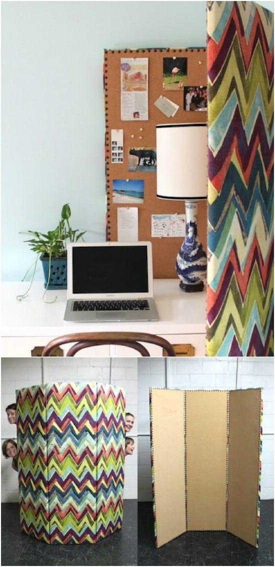 DIY Upholstered Bulletin Board Divider