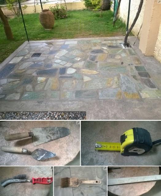 Easy DIY Flagstone Patio