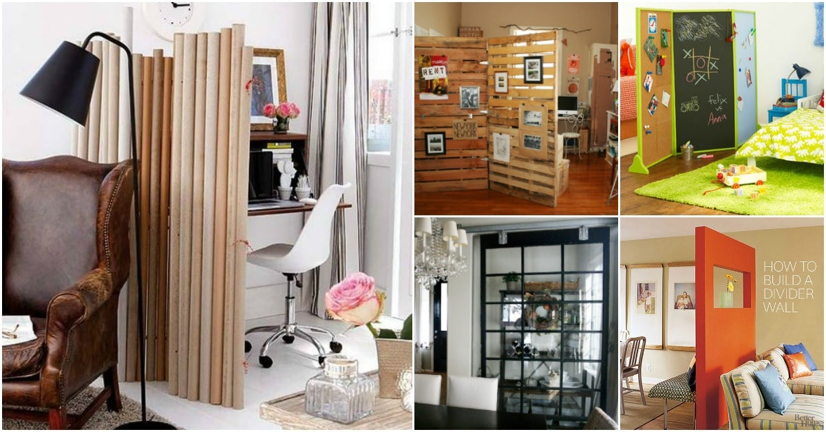 30 Imaginative Diy Room Dividers That Help You Maximize Your Space Diy Crafts