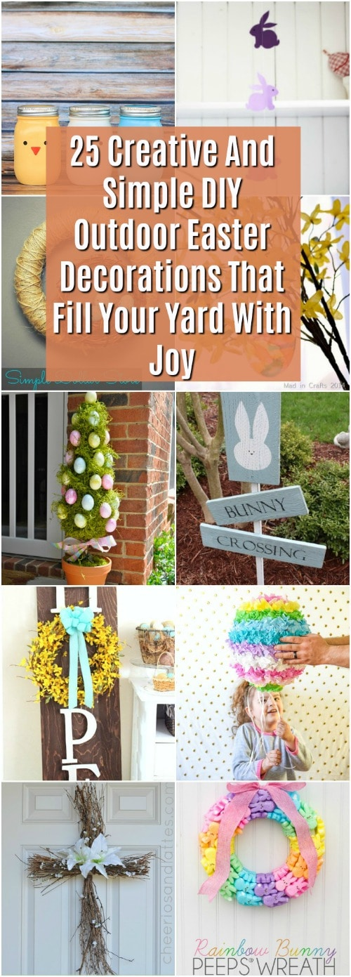 25 Creative Diy Outdoor Easter Decorations That Fill Your Yard With