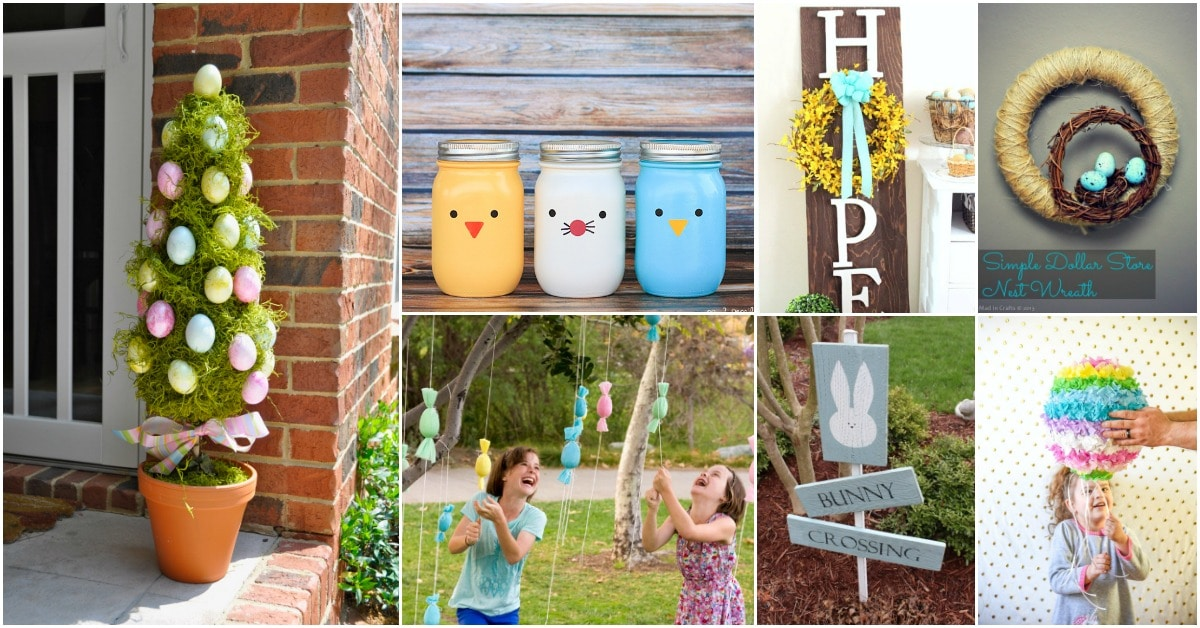 25 Creative DIY Outdoor Easter Decorations That Fill Your ...