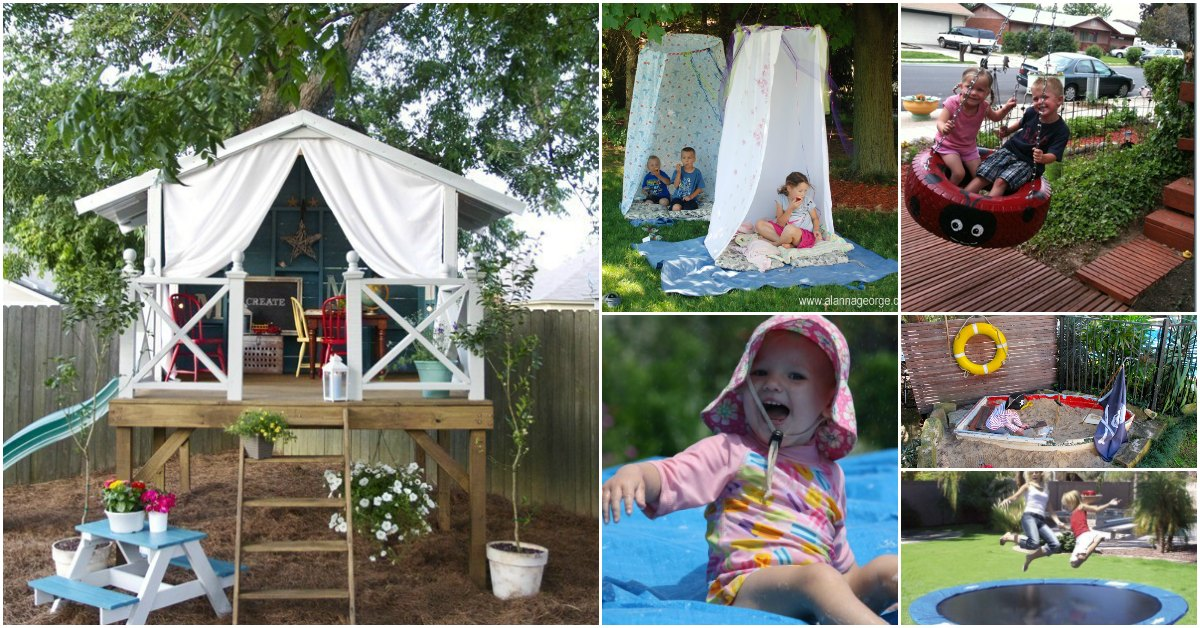 30 Fun Diy Outdoor Play Areas That Will Keep Your Kids Entertained