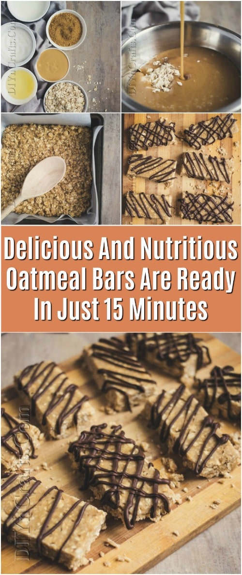 Delicious And Nutritious Oatmeal Bars Are Ready In Just 15 Minutes