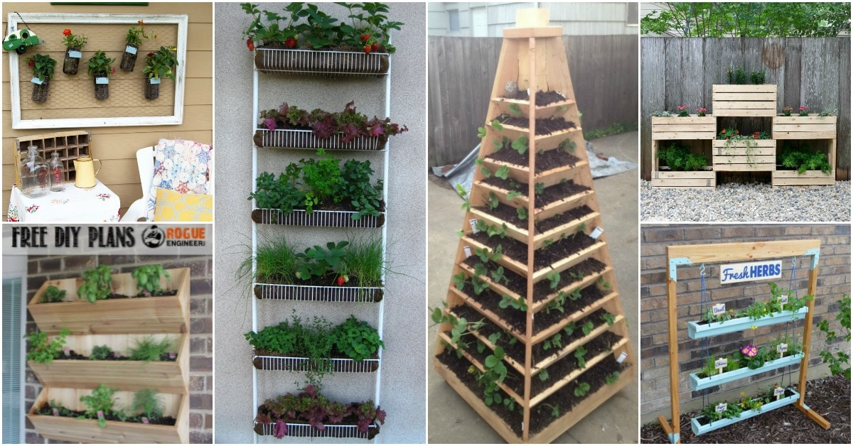 20 DIY Vertical Gardens That Give You Joy In Small Spaces ... Rack Side Of House Plant on house plant poles, house plant trays, house plant containers, house plant watering devices, house plant holders, house plant stakes, house plant shelving, house plant supports, house plant stands, house plant hangers,