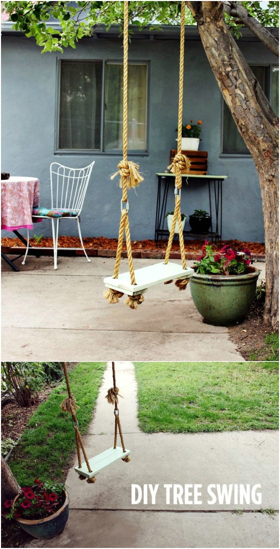 Simple Old Fashioned DIY Tree Swing