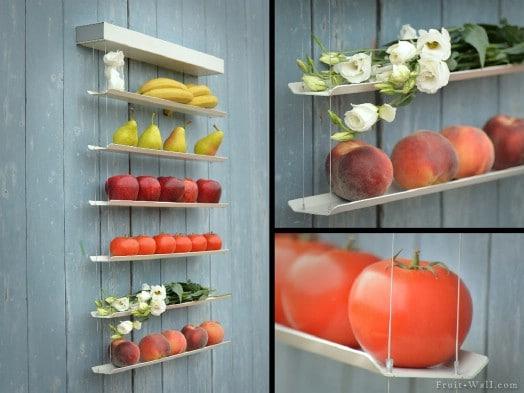 Upcycled Mini Blind Produce Storage