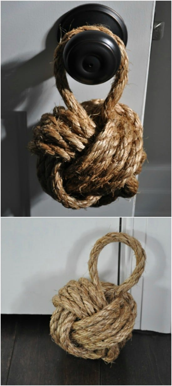 DIY Nautical Rope Door Stop