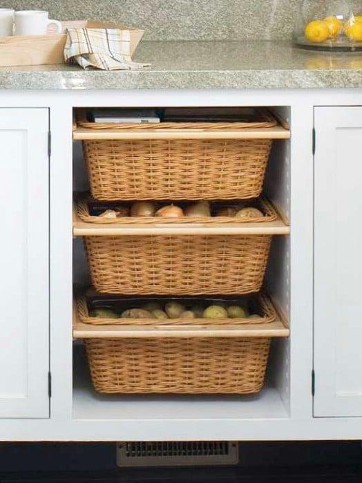 DIY Slide Out Cabinet Baskets