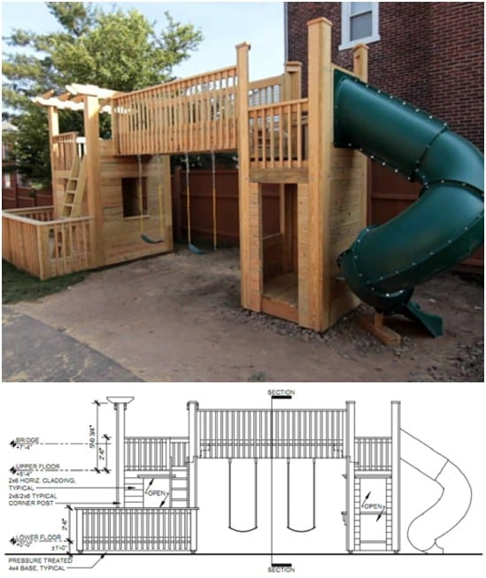 DIY Clubhouse – Slide Swing Set