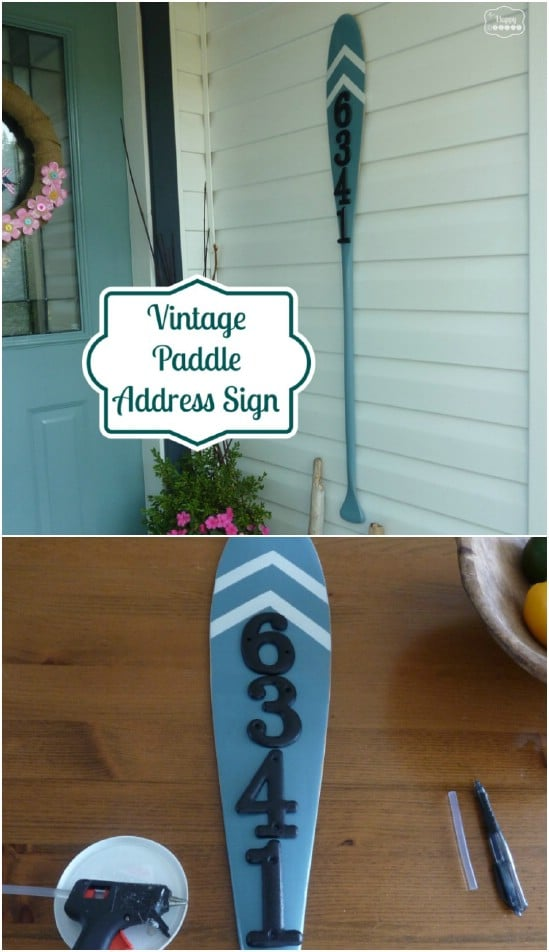 Cute Upcycled Oar House Sign