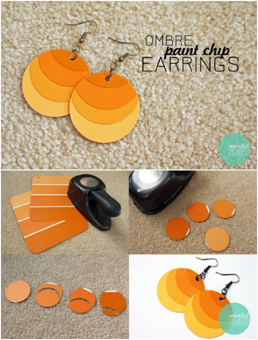 Gorgeous DIY Ombre Earrings