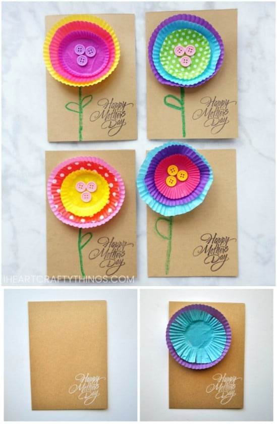 Cupcake Paper Flower Card