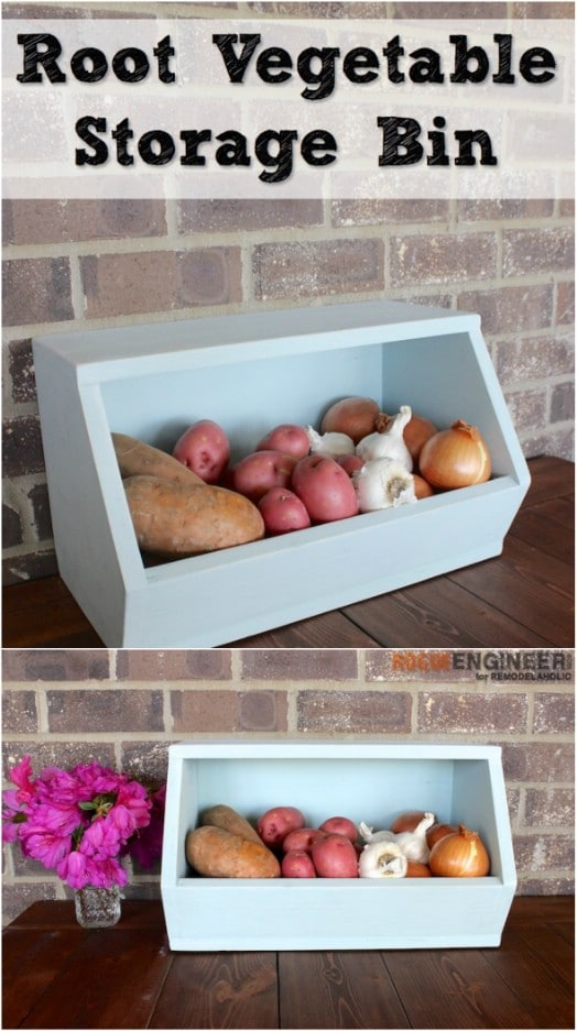 handmade wood decor fruit and veggie holder woodworking home Simple DIY Wooden Produce Bins