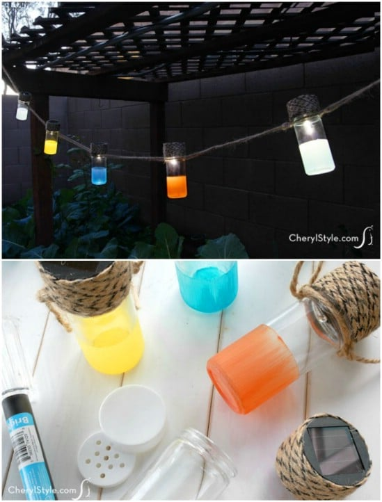 DIY Colorful Solar Lanterns